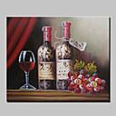 halpa Asetelmamaalaukset-Hang-Painted öljymaalaus Maalattu - Asetelma Moderni Kangas