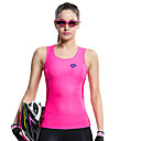 cheap Cycling Jerseys-SANTIC Women's Sleeveless Sports Tank Top - Pink Bike Vest / Gilet / Jersey, Breathable, Quick Dry, Ultraviolet Resistant Solid Colored / High Elasticity / Advanced Sewing Techniques