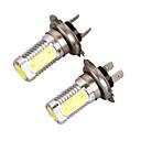 baratos Faróis para Carros-2pcs H4 Carro Lâmpadas 7 W COB 800 lm 5 LED Lâmpada de Farol