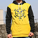 baratos Acessórios Cosplay Anime-Inspirado por One Piece Trafalgar Law Anime Fantasias de Cosplay Hoodies cosplay Estampado / Retalhos Manga Longa Blusa / Mais Acessórios Para Homens / Mulheres Trajes da Noite das Bruxas