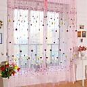 halpa Harsoverhot-Rypytysnauha One Panel Window Hoito Kantri, Painettu Living Room Polyesteri materiaali Läpinäkyvät verhot Shades Kodinsisustus
