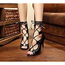baratos Sapatos de Dança Latina-Mulheres Sapatos de Dança Latina / Sapatos de Salsa / Sapatos de Samba Courino Sandália Vazados Salto Agulha Personalizável Sapatos de