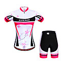 cheap Cycling Jersey & Shorts / Pants Sets-WOSAWE Women's Short Sleeves Cycling Jersey with Shorts - Peach Bike Shorts Jersey Clothing Suits, Quick Dry, Anatomic Design,