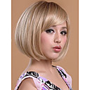 cheap Rings-Synthetic Wig Straight Bob Haircut / Short Bob / With Bangs Synthetic Hair Wig Women's Short Capless