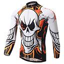 baratos Camisas Para Ciclismo-XINTOWN Homens Manga Longa Camisa para Ciclismo - Branco Moto Camisa/Roupas Para Esporte, Secagem Rápida, Resistente Raios Ultravioleta,