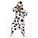 cheap Men's Sneakers-Adults' Kigurumi Pajamas Milk Cow Onesie Pajamas Polar Fleece White Cosplay For Men and Women Animal Sleepwear Cartoon Festival / Holiday Costumes