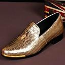 זול נעלי ספורט לגברים-בגדי ריקוד גברים נעלי עור עור אביב / קיץ / סתיו נוחות נעליים ללא שרוכים מוזהב / חתונה / מסיבה וערב