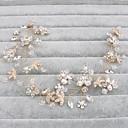 voordelige Hoofddeksels voor feesten-Kristal hikinauhat / Hoofddeksels with Bloemen 1pc Bruiloft / Speciale gelegenheden  / Causaal Helm