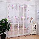baratos Cortinas Transparentes-Sheer Curtains Shades Sala de Estar Poliéster Estampado
