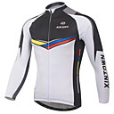 ieftine Măști Față-XINTOWN Bărbați Manșon Lung Jerseu Cycling - Alb Bicicletă Jerseu, Uscare rapidă, Rezistent la Ultraviolete, Respirabil Peteci / Strech