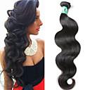 povoljno Ekstenzije od prave kose prirodne boje-1 paket Brazilska kosa Tijelo Wave Virgin kosa Ljudske kose plete 12-30 inch Isprepliće ljudske kose 4a Proširenja ljudske kose / 10A