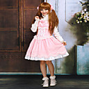 baratos Vestidos Lolita-Princesa Doce Renda Mulheres Vestidos Cosplay Sem Manga Comprimento Curto Fantasias