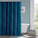 preiswerte Duschvorhänge-Duschvorhänge Modern Polyester Streifen Maschinell gefertigt