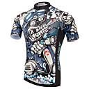 baratos Camisas Para Ciclismo-XINTOWN Homens Manga Curta Camisa para Ciclismo Moto Camisa / Roupas Para Esporte, Secagem Rápida, Resistente Raios Ultravioleta,