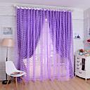 baratos Cortinas Transparentes-Sheer Curtains Shades Um Painel W99cm×L200cm Amarelo / Sala de Estar