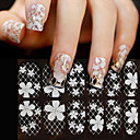 cheap Nail Stickers-1 pcs 3D Nail Stickers Lace Stickers nail art Manicure Pedicure Flower / Fashion Daily / PVC(PolyVinyl Chloride)