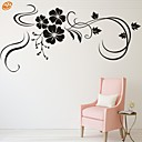 cheap Wall Stickers-Romance Fashion Florals Wall Stickers Plane Wall Stickers Decorative Wall Stickers, Vinyl Home Decoration Wall Decal Wall Decoration