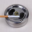 رخيصةأون منافض السجائر-التدخين العملي الفولاذ المقاوم للصدأ منفضة سجائر غطاء دوران إغلاقا كاملا الأدوات المنزلية