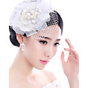 cheap Clutches & Evening Bags-Pearl / Feather Fascinators / Headwear with Floral 1pc Wedding / Special Occasion Headpiece