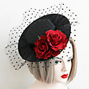 cheap Party Headpieces-Lace / Fabric Hats with 1 Wedding / Special Occasion Headpiece
