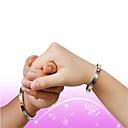baratos Braceletes-Bracelete - Aço Titânio Amor Fashion Pulseiras Prata / Rosa / Dourado Para Casamento Festa Diário