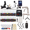 cheap Starter Tattoo Kits-DRAGONHAWK Tattoo Machine Starter Kit - 2 pcs Tattoo Machines with 20 x 5 ml tattoo inks, Professional, Safety, Easy to Install Alloy LCD power supply Case Not Included 2 rotary machine liner & shader