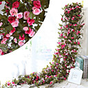 cheap Artificial Flower-Artificial Flowers 1 Branch Pastoral Style Roses Wall Flower