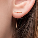 cheap Earrings-Women's Stud Earrings - European, Simple Style, Fashion Gold / Silver For Party / Daily / Casual