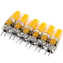 cheap LED Spot Lights-6pcs 2W 200 lm G4 LED Bi-pin Lights MR11 1 leds COB Decorative Warm White Cold White AC 12V DC 12V
