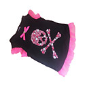 cheap Dog Clothes-Dog Shirt / T-Shirt Dog Clothes Heart Skull Black Cotton Costume For Pets