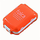 billige Emergency & Survival-Mini Portable Folding with Three Separate Sections of Eight Grid Medicine Drug Pill Box Storage Container Random Color