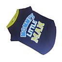 preiswerte Hundekleidung-Hund T-shirt Hundekleidung Buchstabe & Nummer Blau / Grün Baumwolle Kostüm Für Haustiere Sommer Herrn Modisch