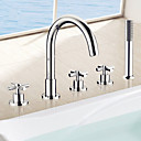 cheap Bathtub Faucets-Bathtub Faucet - Contemporary Chrome Roman Tub Ceramic Valve