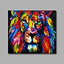 זול ציורים מופשטים-ציור שמן צבוע-Hang מצויר ביד - אומנות פופ מודרני כלול מסגרת פנימית / בד מתוח