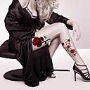 preiswerte Tattoo-Aufkleber-2 pcs Tattoo Aufkleber Temporary Tattoos Blumen Serie / Zeichentrickserie Körperkunst Gesicht / Korpus / Hände