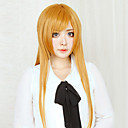 abordables Pelucas Cosplay-Alicización de SAO Asuna Yuuki Mujer 32 pulgada Fibra resistente al calor Naranja Animé Pelucas de Cosplay