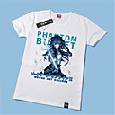 abordables Accesorios de Cosplay de Anime-Inspirado por Sword Art Online Kirito Animé Disfraces de cosplay Cosplay de la camiseta Estampado Manga Corta Camiseta Para Hombre / Mujer Disfraces de Halloween