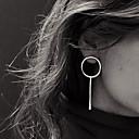 billige Mode Øreringe-Dame Kvast Stangøreringe / Store øreringe - Europæisk, minimalistisk stil Sølv / Gylden Til Fest / Daglig / Afslappet