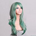 billige Kostymeparykk-Syntetiske parykker Krøllet / Naturlige bølger Asymmetrisk frisyre Syntetisk hår Naturlig hårlinje Grønn Parykk Dame Medium Lengde / Lang Lokkløs Grønn