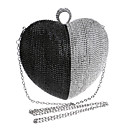 cheap Clutches & Evening Bags-Women's Bags Polyester Evening Bag Rhinestone Black / Silver