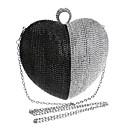 halpa Clutch- ja iltalaukut-Naisten Kassit Polyesteri Iltalaukku Tekojalokivi Musta / Hopea