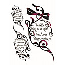 billige Midlertidige tatoveringer-Tegneserier / Tattoo Sticker Ansigt / Krop / hænder Midlertidige Tatoveringer 2 pcs Tegneserie Serie Kropskunst