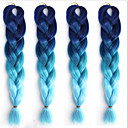 cheap Hair Braids-Ms African  Fiber Color Big Child Jumbo Braid Hair High Temperature Gradient Blue Silk Black 1PCS