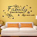 cheap Wall Stickers-Still Life Wall Stickers Words & Quotes Wall Stickers Decorative Wall Stickers, Vinyl Home Decoration Wall Decal Wall Decoration