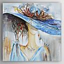 abordables Cuadros de Personas-Pintura al óleo pintada a colgar Pintada a mano - Personas Modern Lona