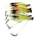 hesapli Balık Yemi ve Sineği-1 pcs Przynęty wędkarskie Karides Plastik Batan Olta Yemi Balık Yemi Trol ve Bot Balıkçılığı