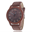 cheap Smartphone Camera Lenses-Men's Wrist Watch Quartz Casual Watch Wooden Leather Band Analog Charm Fashion Wood Brown - Brown One Year Battery Life / Tianqiu 377