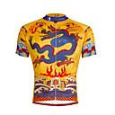 abordables Pelucas Sintéticas-ILPALADINO Hombre Manga Corta Maillot de Ciclismo - Amarillo / negro Bicicleta Camiseta / Maillot, Secado rápido, Resistente a los UV,