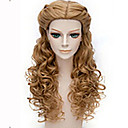 cheap Synthetic Capless Wigs-Synthetic Wig Wavy Synthetic Hair Brown Wig Women's Long Capless Brown