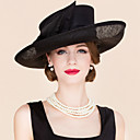 cheap Party Headpieces-Flax / Fabric Fascinators / Hats with 1 Wedding / Special Occasion / Casual Headpiece